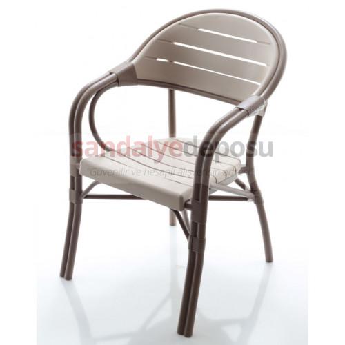 Monreal Poliproplen sandalye kahve
