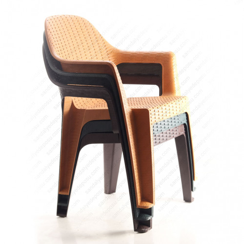 3.25 Kg Lavinya Kollu Plastik Sandalye Teak