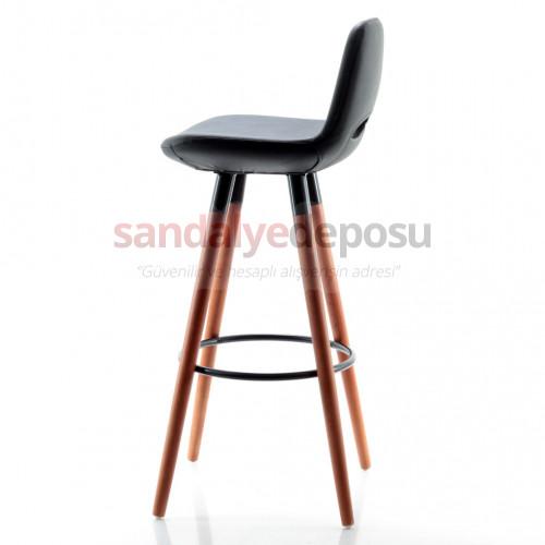 Rasko Sabit Ayaklı Bar Sandalyesi Siyah