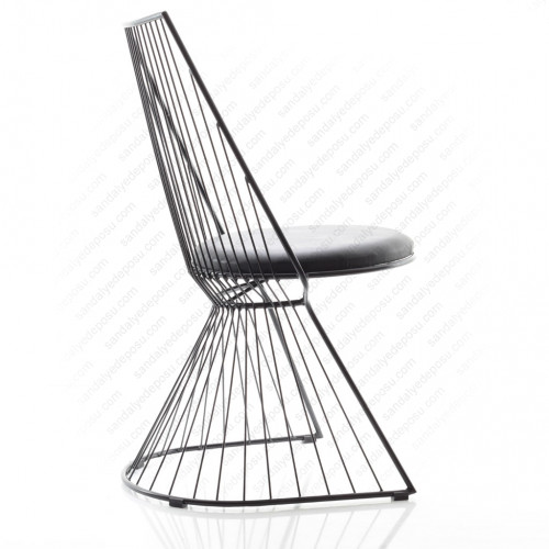 Belissa Metal Sandalye Siyah