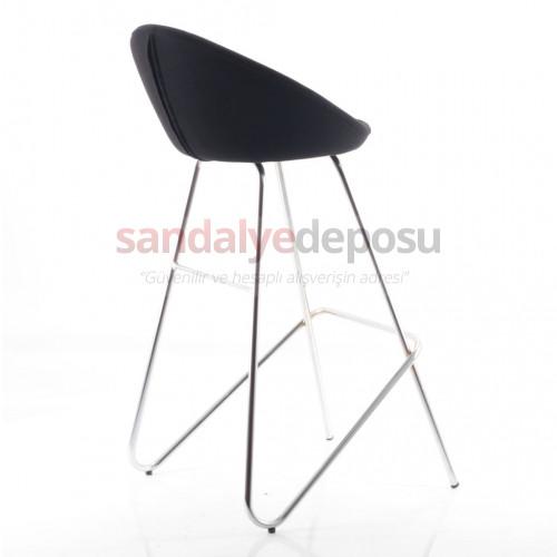 Gloria Krom Eyfel Ayaklı Bar Sandalyesi (Kumaş 92)