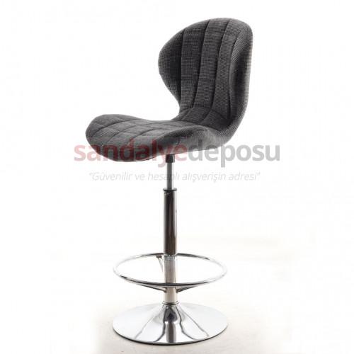 Bitcoin Çemberli Bar Sandalyesi Keten ( Lara 307 )