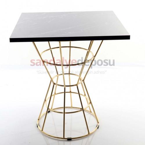 Boby Gold Kaplama Ayaklı Kafeterya Masası 70*70 ( Melamin )