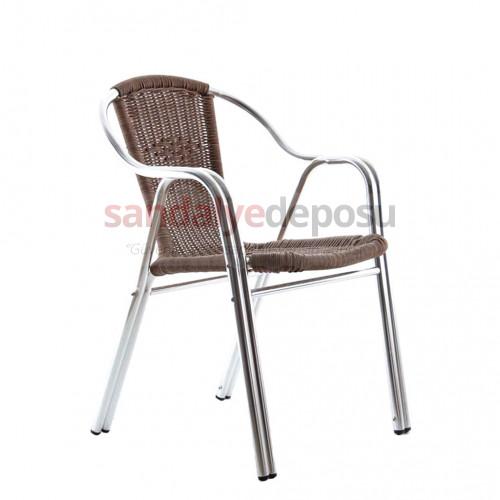 Gardenya alüminyum sandalye kahve